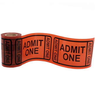 Admission Ticket Plastic Tape / Banner