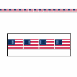 American Flag Party Banner Tape