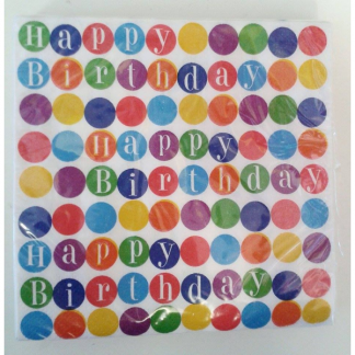 Rainbow Dot Party Napkins (16pk)