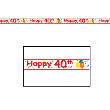 Happy 40th Party Banner Tape