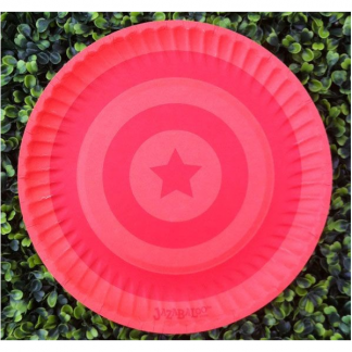 Jazabaloo Red & Orange Plates (12)