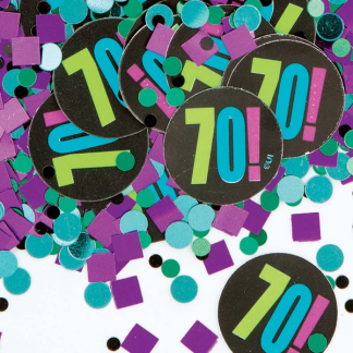 70th Birthday Cheer Confetti