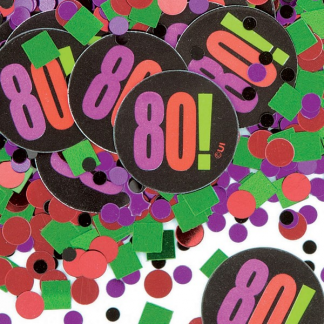 80th Birthday Cheer Confetti