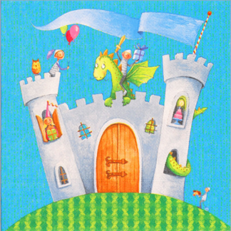 Knights Castle Luncheon Napkin (20)