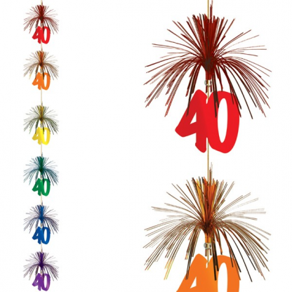 40th Firework Stringer Hanging Decoration