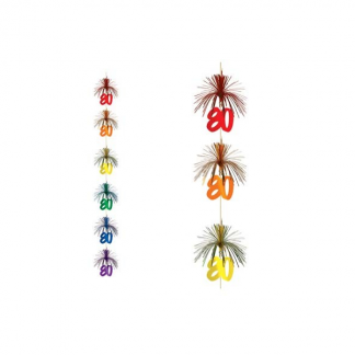 80th Firework Stringer Hanging Decoration
