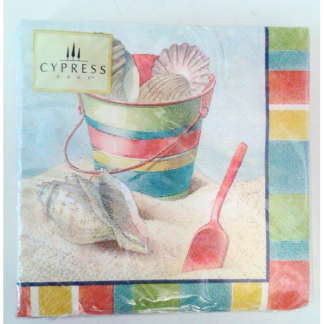Bucket and Spade Beach Napkins (20pk)