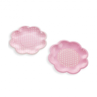 Talking Tables Party Pink Flower Shape Plates (8pk)