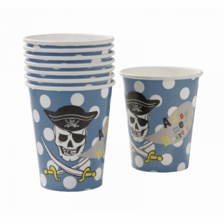 Ahoy Me Hearties Pirate Paper Cup (8pk)