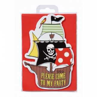 Ahoy Me Hearties Pirate Invitations (10pk)