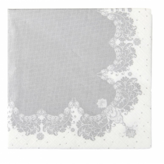 Party Porcelain Silver Napkins (20)