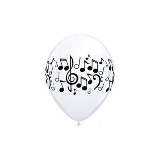 Qualatex 11 inch Latex Music Note Balloons (5pk)