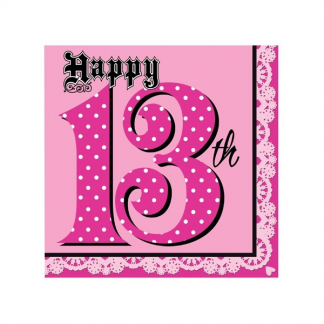 Happy 13th Super Stylish Napkin (16pk)