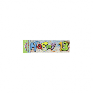 Happy 13th Birthday Banner