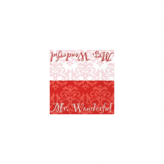 Mr & Mrs Wonderful Napkins (20)
