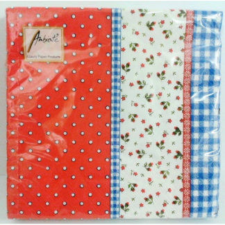 Lilly Red / Blue Napkins (20pk)