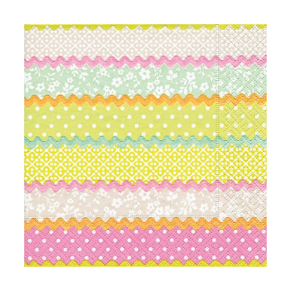 Pastel Pattern Cocktail Napkin (20pk)