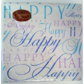 Happy Times Silver Cocktail Napkin (20pk)