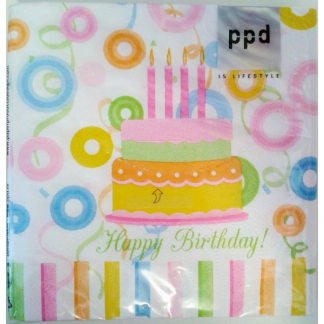 Happy Birthday Colorful Cocktail Napkin (20pk)