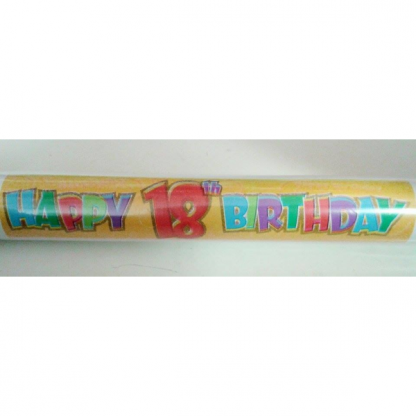 Happy 18th Giant Banner Roll