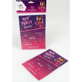 Hen's Party Invitations (10)
