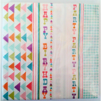 Aztec Happy Birthday Napkin (20pk)