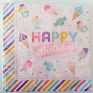Sweet Happy Birthday Napkins (20pk)