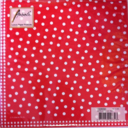 Ambiente Dots With Vic Red Napkins (20)