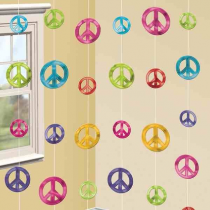 Peace Sign String Decorations