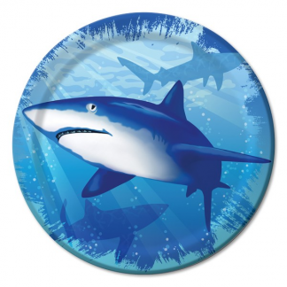 Shark Splash Lunch Paper Plates 7in (8)