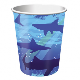 Shark Splash Paper Cups (8pk)