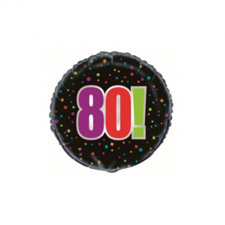 80th Birthday Cheer Helium Foil Balloon