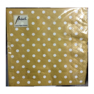 Ambiente Dots Gold Napkin (20pk)