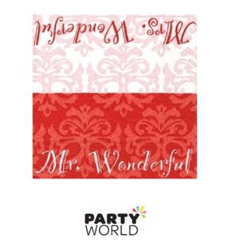 wedding napkins red