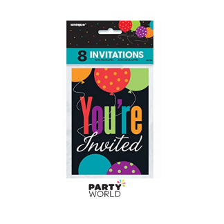 Birthday Cheer You're Invited Invitations (8)