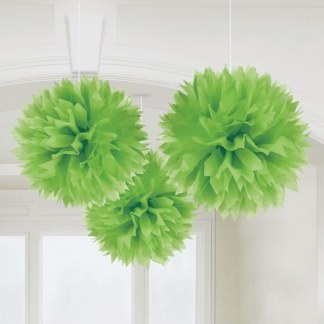 Green Fluffy Decoration 3pk large