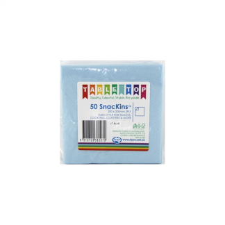 Snackins Napkins- Light Blue (50)
