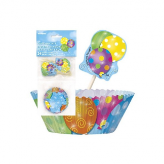 Balloon Detail Cupcake Kit (24pk)