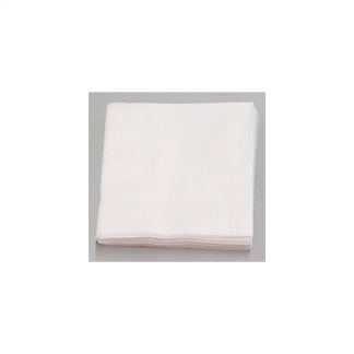 White DINNER Napkins (50)