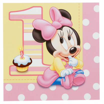 1st Birthday Minnie Mouse Luncheon Napkins (16)