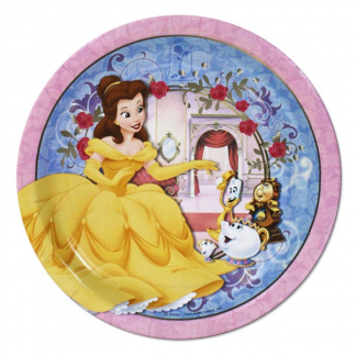 Beauty and the Beast 7in Plates (8)