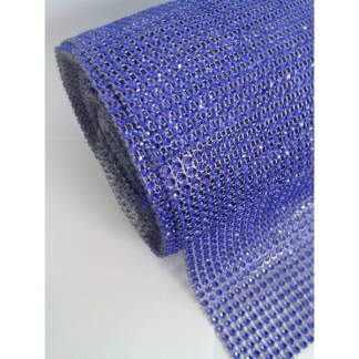 Diamante Effect Ribbon - Electric Blue