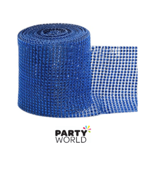 blue diamante ribbon