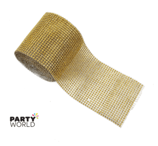 gold diamante ribbon
