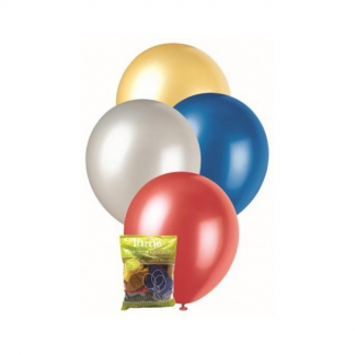 Assorted Metallic Balloons (25) 30cm
