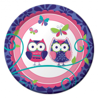 Owl Pals 7in Plates (8)