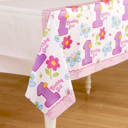 Hugs & Stitches Girl Paper Table Cover