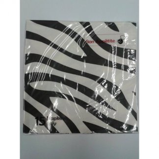 Zebra Animal Print Napkins (15pk)