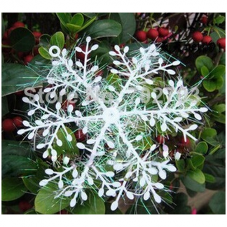 Snowflakes with Tinsel 10 cm (3)