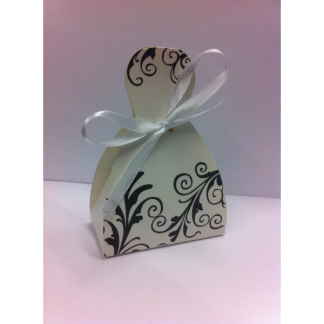 White With Black Design Favor Boxes (25)